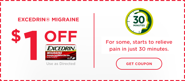 Red Excedrin Migraine Coupon